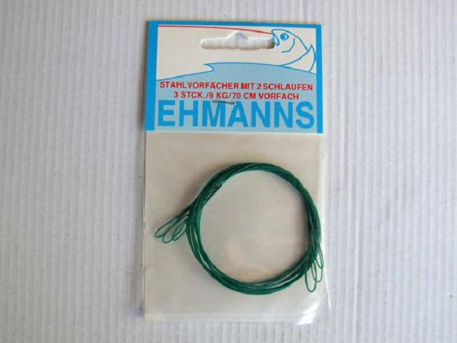 Ehmanns stahlvorf cher 2 schlaufen raubfischartikel for Fishing factory outlet