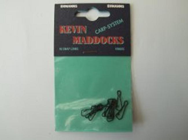 Kevin maddocks snap links karpfenkleinteile for Fishing factory outlet