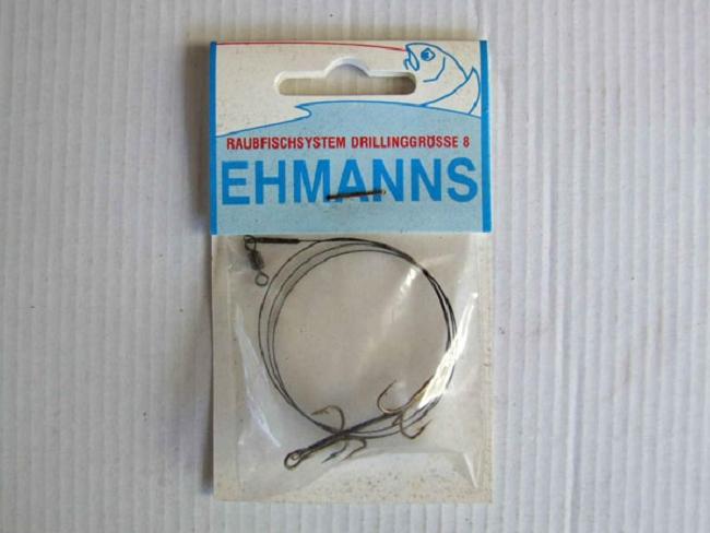 Ehmanns drilling mit stahlvorfach raubfischartikel for Fishing factory outlet